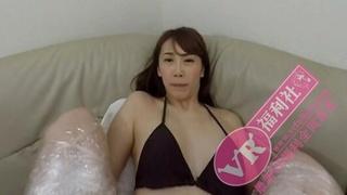 [VR]日本VR成人 捆綁着美眉 然後用振動棒虐待她