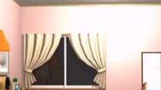 エロアニメ 巨乳 オナニー 美女 ディルド
