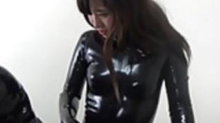 日本ラテックスキャットスーツ97