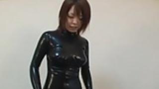 日本ラテックスキャットスーツ14