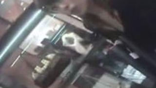 【盗撮動画】美女ショップ店員が接客中に浮きブラして覗き見される胸チラ
